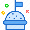 cupcake, drink, flag, food, grocery, kitchen, restaurant icon