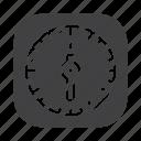 clock, kitchen, timer, watch icon