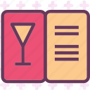 drink, food, grocery, kitchen, menu, restaurant, wine icon