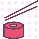 drink, food, grocery, kitchen, restaurant, sushichopsticks icon