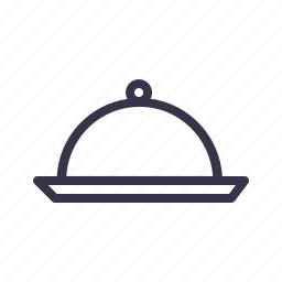 dish, dome, food, kitchen, plate, tool icon