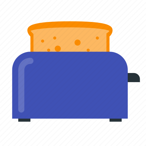 bread, breakfast, cooking, food, kitchen, toast, toaster icon
