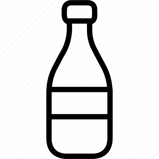bottle, drink, food, milk icon