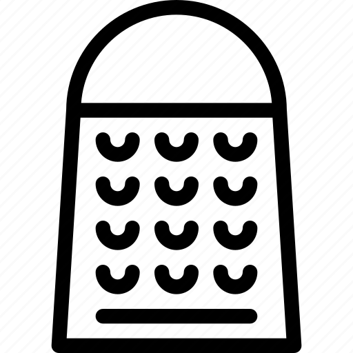 cheese, grater, kitchen, utensil, vegetable icon