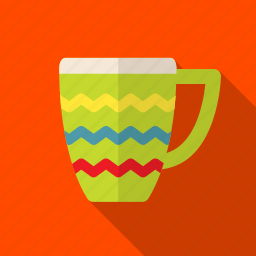 bright, cup, drink, kitchen, mug icon
