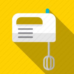 cream, egg, hand, mix, mixer, prepare icon