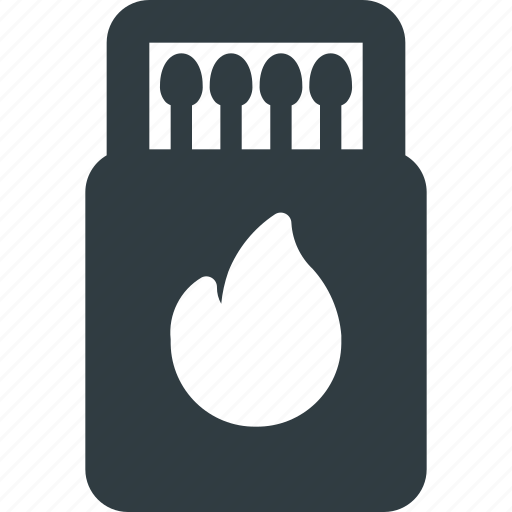 box, kitchen, match, matchbox, matches icon