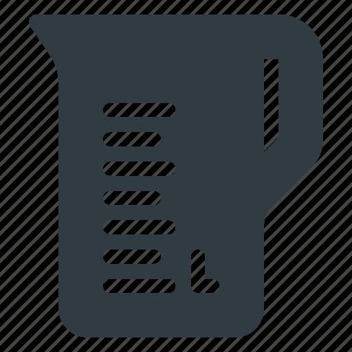cup, kitchen, liquid, liter, measuring icon