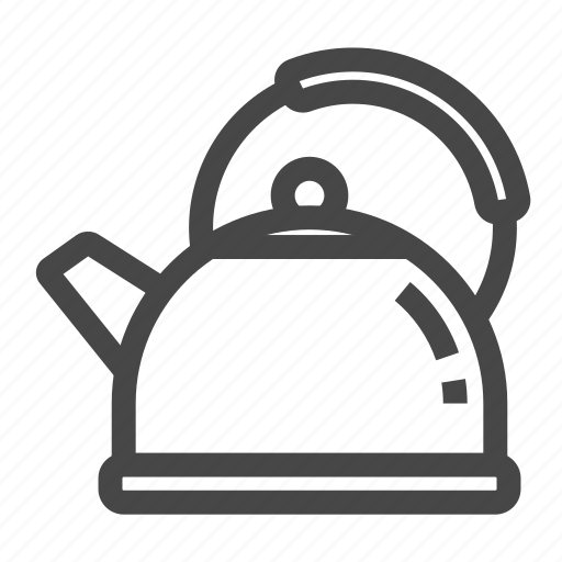 kettle, steam, whistle icon