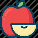 apple, eat, food, fruit, slice, sweet