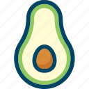 avocado, food, fruit, tropical icon