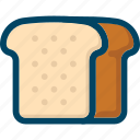 bakery, bread, eat, food, lanch, toast icon