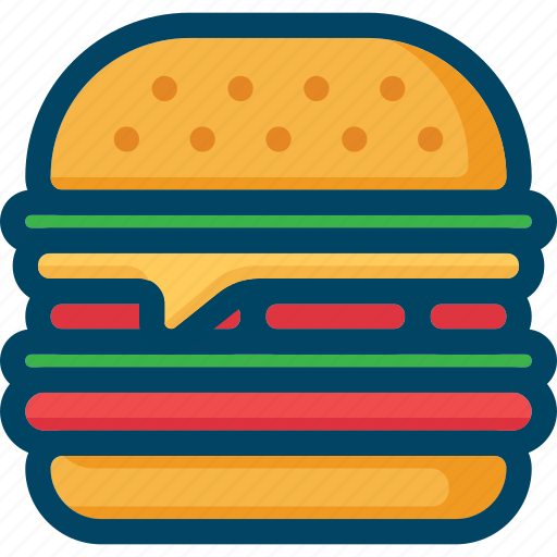 burger, cheeseburger, eat, fast, food, sandwich, street icon