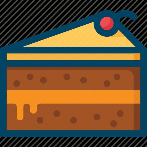 cake, cherry, food, pie, sweet icon