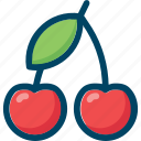 berry, cherry, eat, food icon