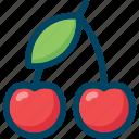 berry, cherry, eat, food