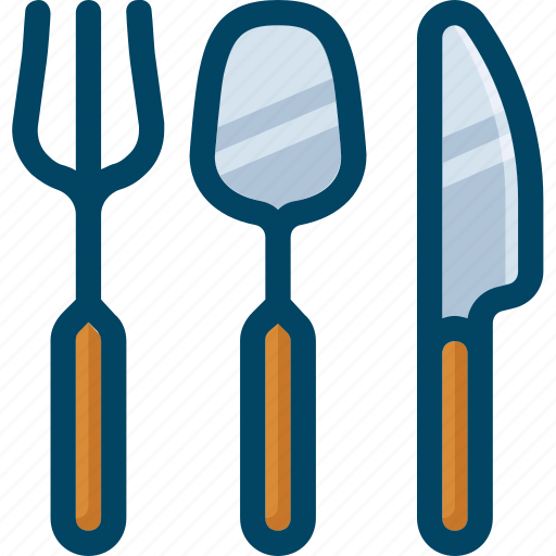 cutlery, food, fork, kitchen, knife, spoon icon