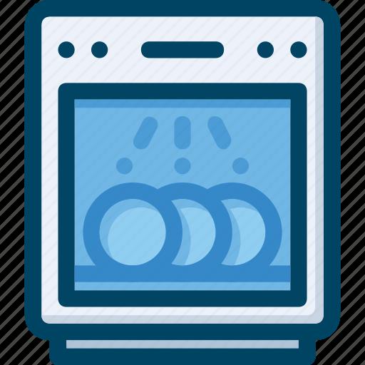 appliance, dish, dishwasher, kitchen, washer icon