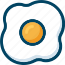breakfast, cook, egg, food, fried, scrambled icon