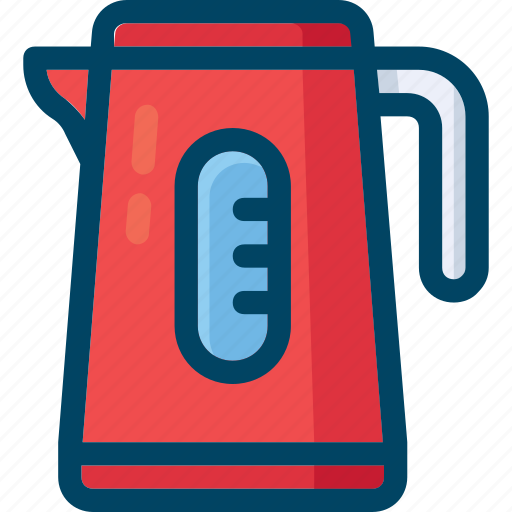 appliance, boiling, electric, kettle, pot icon