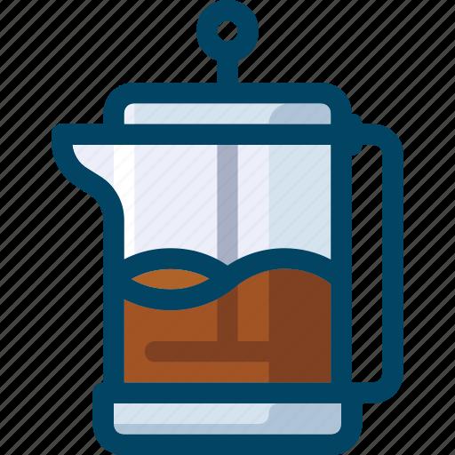 coffee, drink, french, kitchen, pot, press icon