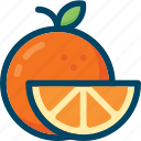 eat, food, fruit, orange, slice icon