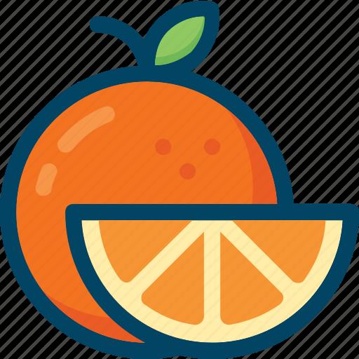 eat, food, fruit, orange, slice icon