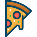cheese, food, italian, pizza, restaurant icon
