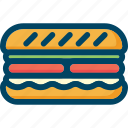 burger, eat, food, sandwich icon