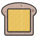 bread, breakfast, cheese, food, sandwich, slice icon