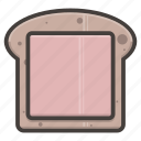 bread, food, sandwich, slice icon