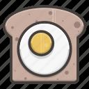 bread, slice, egg, sandwich, food