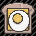 bread, egg, food, sandwich, slice icon