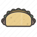 burrito, food, mexican, taco icon
