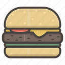 burger, fastfood, hamburger, small icon