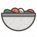 fitness, food, health, healthy, salad, vegetables icon
