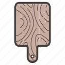 board, cutting, tool, wooden icon