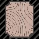 board, cut, cutting, tool, wooden icon