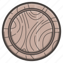 board, cutting, round, tool, wooden icon
