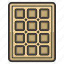breakfast, wafer, waffle icon