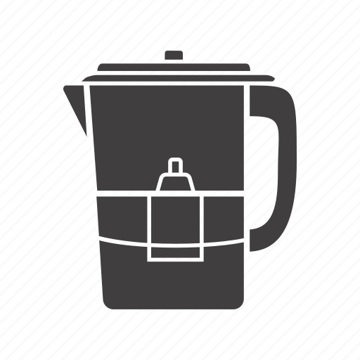 filter, pitcher, purification, water icon