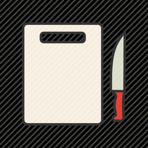 board, breadboard, chopping, cutting, knife, slicing icon