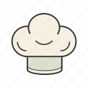 cap, chef, cook hat, headwear, toque icon