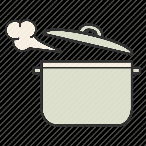 boiling, casserole, cooker, pan, pot, saucepan, stewpan icon