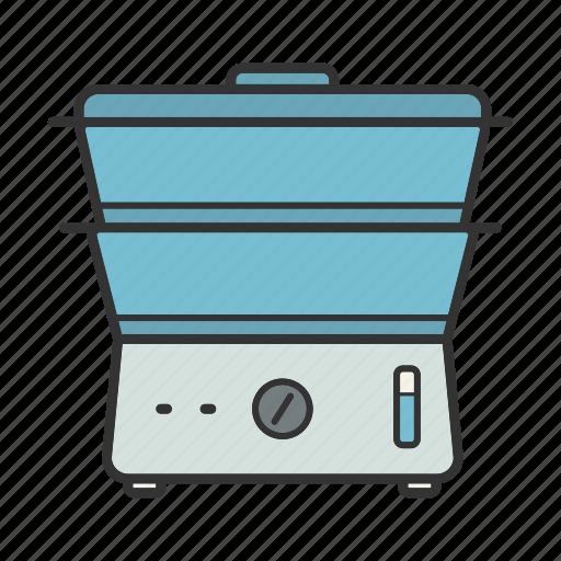 appliance, boiler, cooker, cookware, double-boiler, steamer icon