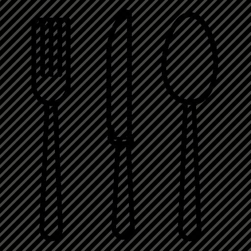 crockery, cutlery, flatware, silverware, tableware icon