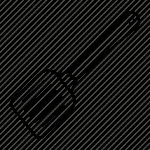 kitchen turner, kitchenware, slotted, spatula, spoon, utensil icon