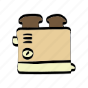 appliances, bakery, bread, bun, cooking, kitchen icon