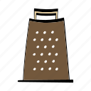 cheese, food, grater, kitchen icon