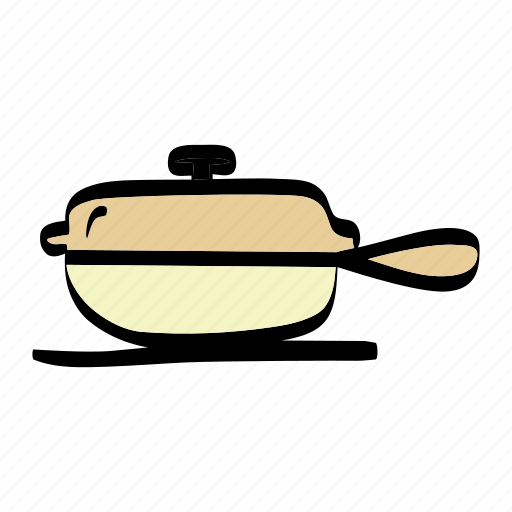 cooking, fried, kitchen, pan icon
